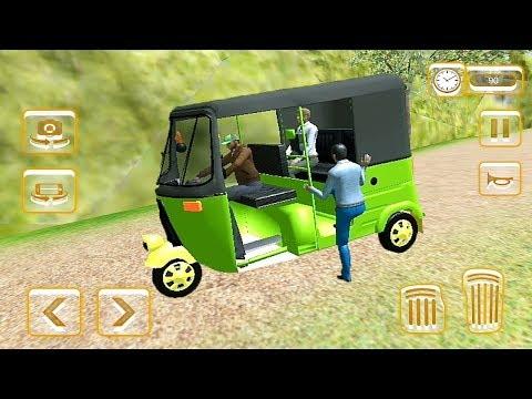Green Auto Rickshaw Mountain Driving Game || Tuk Tuk Auto Rickshaw Game ||  Auto Rickshaw Racing