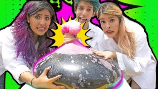 EXPLOSION OF A GIANT BALLOON WITH MENTOS AND COKE! | POLINESIO CHALLENGE LOS POLINESIOS