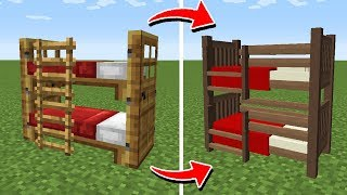 як зробити в майнкрафт двоярусне ліжко