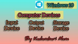 Computer device (input,output and storage device)
