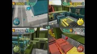 de Blob Nintendo Wii Gameplay - Four-Player Madness