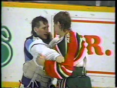 Sean Burke vs Mark Laforest ( Goalie fight ) & Devils vs Leafs Brawl