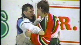 Sean Burke vs Mark Laforest ( Goalie fight ) & Devils vs Leafs Brawl