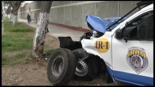 Trujillo: Camioneta de serenazgo chocó con taxi