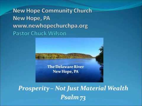Prosperity -  Not Just Material Wealth - May 22, 2016
