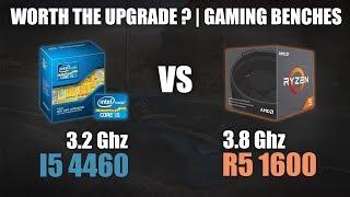 Core i5 4460 vs Ryzen 5 1600 | Worth the Upgrade? | Gaming Benchmarks | 720p & 1080p