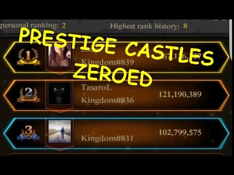 ANCIENT BATTLEFIELD /  OVERALL PLACE 3 / 120M POINTS / ZERO PRESTIGE CASTLES ( CLASH OF KINGS )