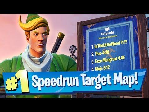 NEW Combine Speedrun Target Map - Fortnite Battle Royale