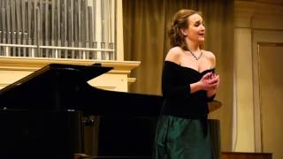"Alexandra Sherman sings: Benjamin Britten. ""Down by the Salley Gardens"""