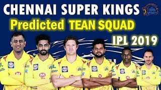 IPL 2019 Chennai Super Kings Possible Squad |CSK Probable Team for IPL 2019