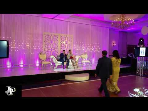 Dallas JPC Lighting Short Clip Indian Wedding, Projectors, Screens, Monograms, Follow Spots