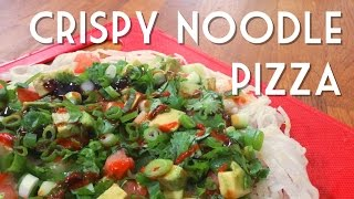 RICE NOODLE PIZZA Recipe | Vegan and Gluten Free