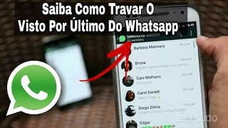 Como congelar o visto por último do whatsapp