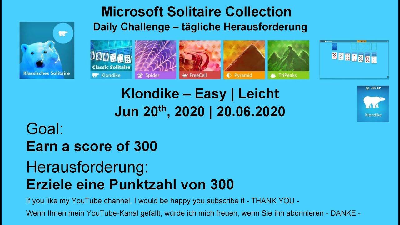 Microsoft Solitaire Collection Tägliche Herausforderung Lösung