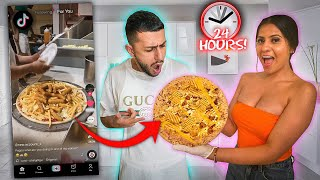 Letting My TikTok FOR YOU PAGE Control What I Eat for 24 HOURS!!