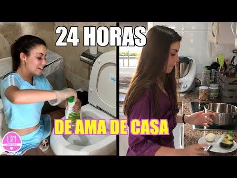 24 HORAS SIENDO  AMA DE CASA !! (Reto 1 día entero limpiando) 😫 LA DIVERSION DE MARTINA