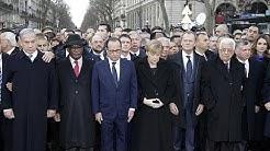 Politiker aller Welt demonstrieren Solidarität in Paris