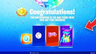 ALL NEW YEARS EVENT *FREE* REWARDS Leaked! - Fortnite Battle Royale NEW YEARS EVENT REWARDS!