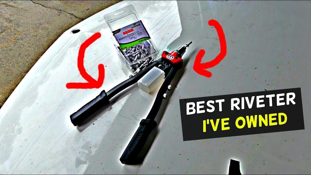 BEST RIVETER I'VE OWNED  HNHC Heavy Duty Hand Riveter