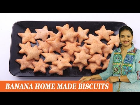 BANANA HOME MADE BISCUITS - Mrs Vahchef