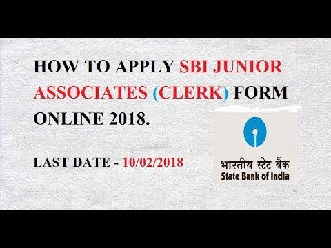 How To Apply Sbi Clerk Junior Associate 2018 Form Online