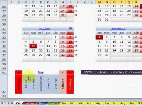 Calendario Perpetuo Semana Santa.Presentacion Calendario Perpetuo En Excel 2010
