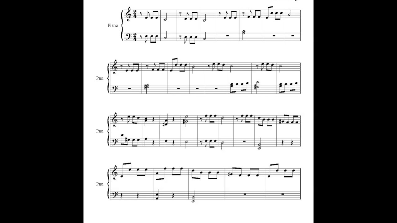 5th Symphony - L V Beethoven - Sheet music - easy piano
