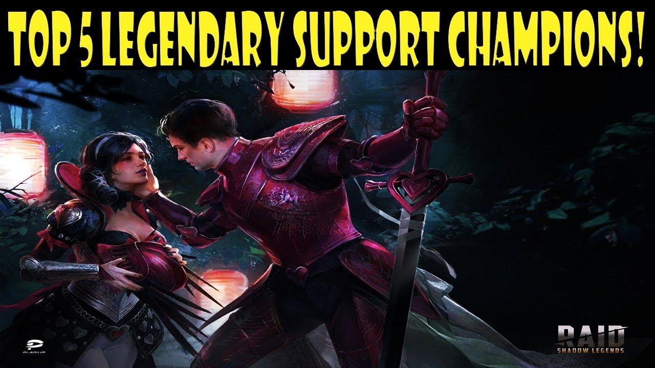 RAID: Shadow Legends - Top 5 Legendary Support Champions!
