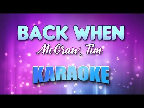 McGraw, Tim - Back When (Karaoke & Lyrics)