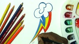 Drawing mlp Rainbowdash cutie marks
