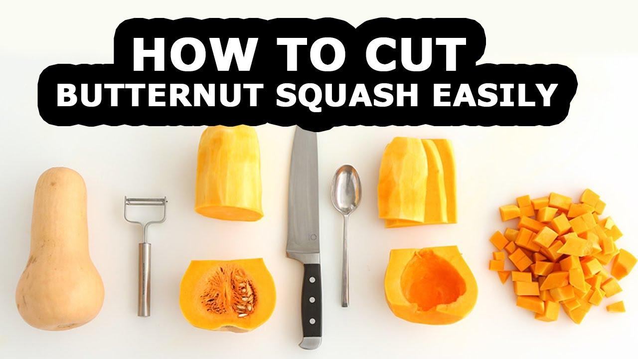 How To Cut Butternut Squash For Squash Recipes How To Cut Butternut Squash How To Peel Squash Youtube