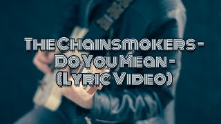 The Chainsmokers Do You Mean Lyric