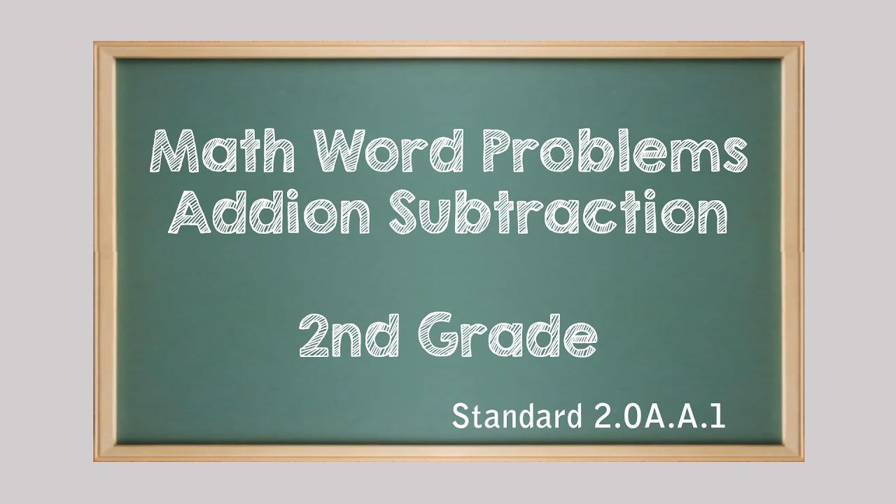 Lesson on 2nd Grade Math Word Problems Addition and Subtraction ...