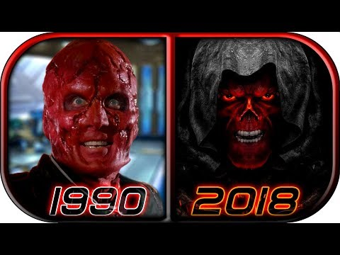 EVOLUTION of RED SKULL in Movies Cartoons TV Anime (1966-2018) Avengers Infinity war Red skull scene