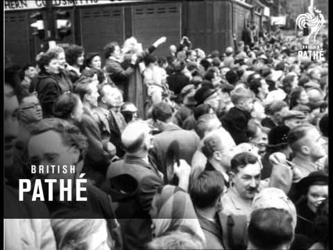 Newcastle Area  Only - Queen Visits Northumberland (1954)