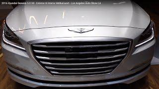 2016 hyundai genesis 5 0 v8 exterior interior walkaround los angeles auto show la