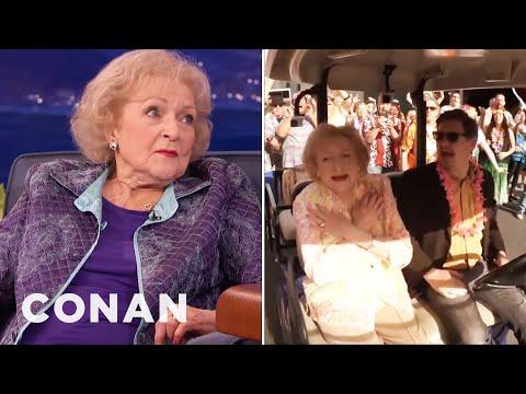 Betty White's Birthday Flash Mob  - CONAN on TBS