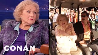 Betty White's Birthday Flash Mob  - CONAN on TBS