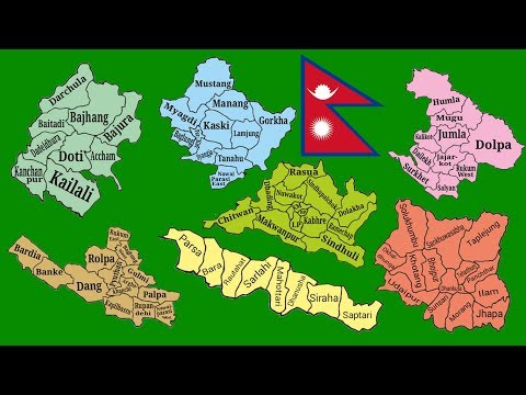 7 state map of Nepal Separate  Separate Green Screen Ful HD