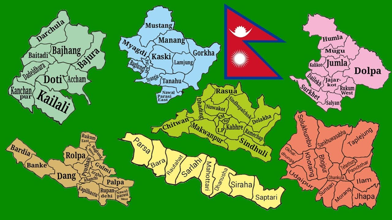 7 state map of Nepal Separate Separate Green Screen Ful HD on map of rukum, map of bhaktapur, map of surkhet, map of parsa, map of dolpa, map of doti, map of solukhumbu, map of jhapa, map of dailekh, map of gulmi, map of dang, map of baitadi, map of birgunj, map of makwanpur, map of humla, map of dhankuta, map of sindhupalchok,