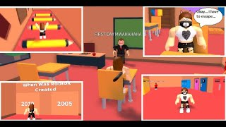 ZDRHÁME ZE ŠKOLY!!! Roblox Let's play: Escape the school obby (popis)