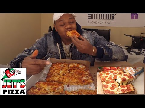Jet's Pizza Mukbang |Buffalo Ranch Style Pizza | MAM EATING SHOW