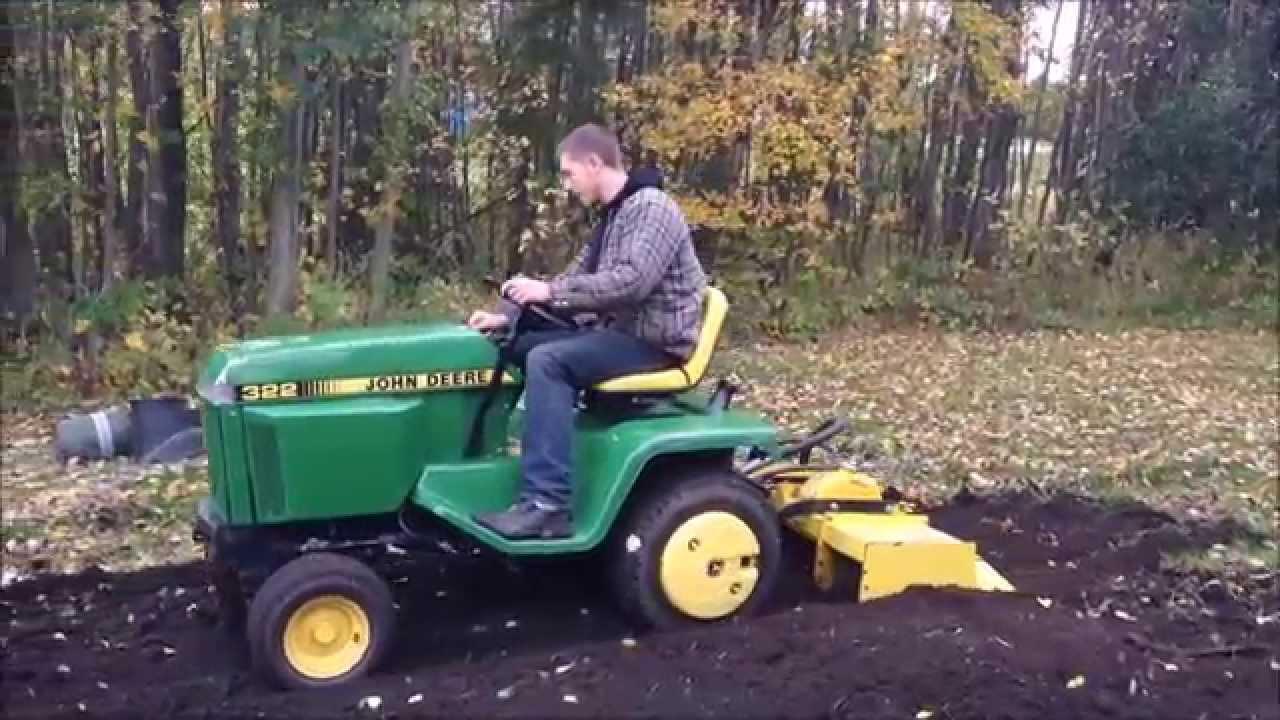 "John Deere 332 >> 1992 John Deere 322 Rototilling w/ 42"" Hydraulic Tiller ..."