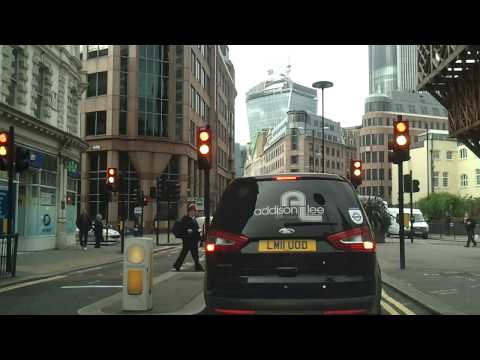 Driving in London - Whitechapel to London Bridge via City