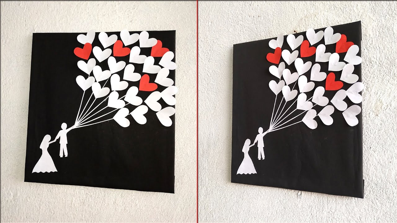 Romantic Couple Wall Decoration Ideas Diy Room Decor Ideas Handmade Beautiful Couple Gift Youtube