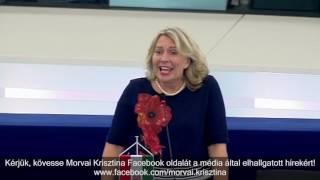"""""""A migráció témakörében megszűnt a szólásszabadság"""" - Morvai az EP-ben"""