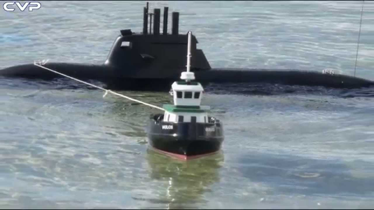 Cvp Rc Tug Boat 510 Towing Rc Submarine U 31 Youtube
