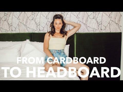 Easy & Cheap DIY Headboard | Cardboard Box DIY | Aja Dang