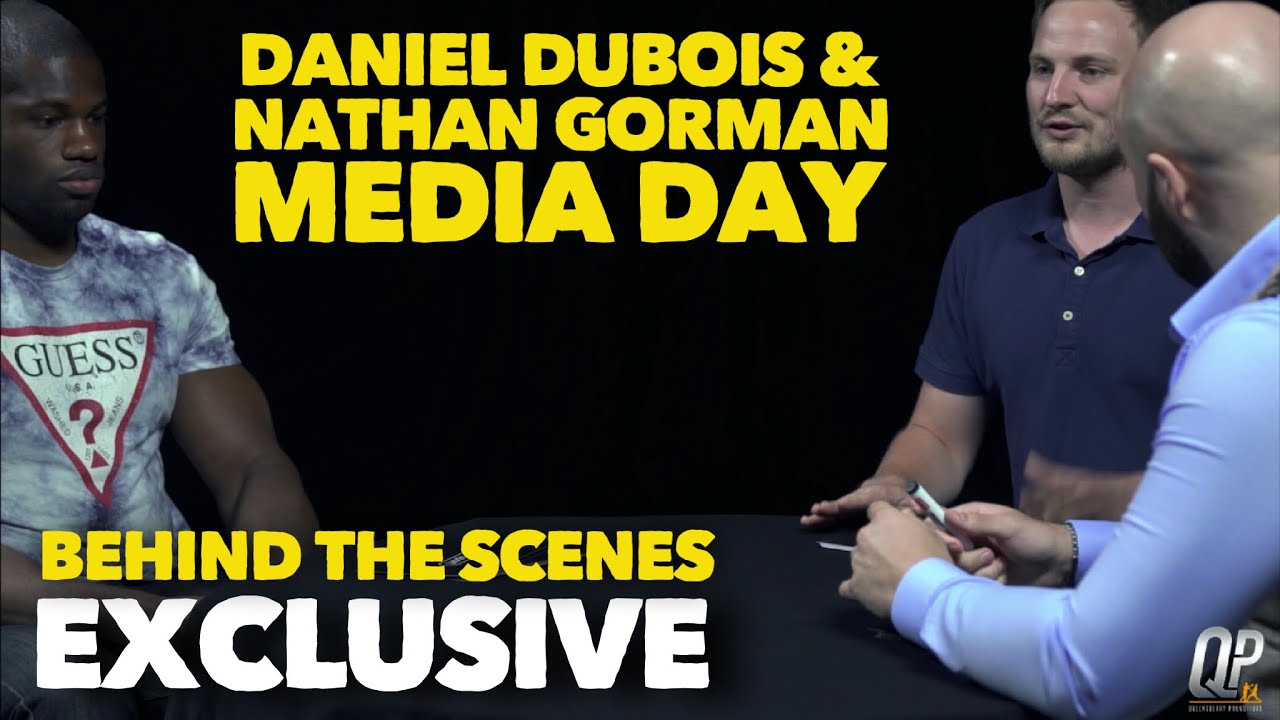 EXCLUSIVE BEHIND THE SCENES WITH DANIEL DUBOIS AND NATHAN GORMAN |  TALKSPORT & BT SPORT FILMING