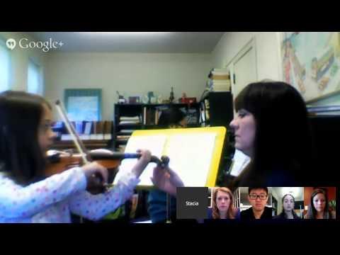 Teaching Violin & Viola Google Hangout #5